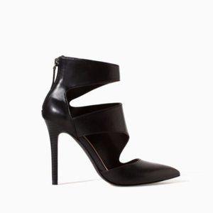 Zara black cutout stiletto heels